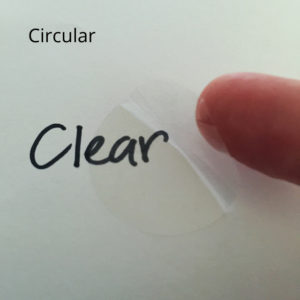 Clear Seals Unprinted