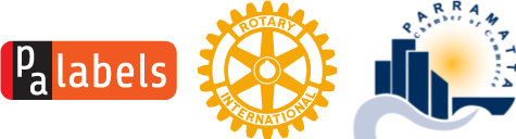 PA Labels, Rotary Club of Parramatta City, Parramatta Chamber of Commerce