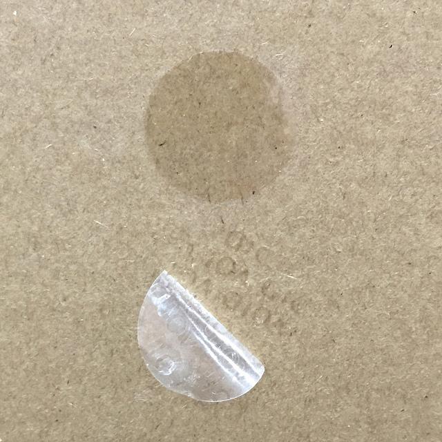 Circular Clear Void Seals, Unprinted